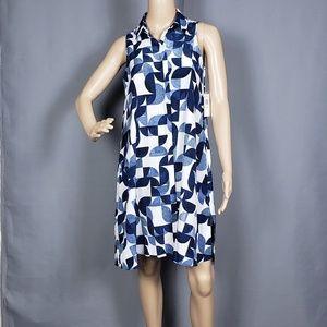 Muse Printed Crepe De Chine Shift dress
